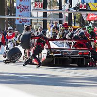 Long Beach, CA - Apr 18, 2015:  The Wheelen Chevrolet pits during the Tequila Patron Sports Car Racing Showcase at Long Beach Grand Prix in Long Beach, CA.