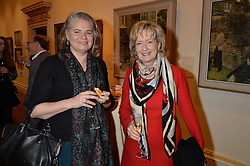 LONDON, ENGLAND 28 NOVEMBER 2016: Left to right, Juliet Carey and Susan Bracken at a reception to celebrate the publication of The Sovereign Artist by Christopher Le Brun and Wolf Burchard held at the Royal Academy of Art, Piccadilly, London, England. 28 November 2016.