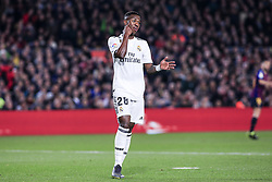 February 6, 2019 - Barcelona, Spain - 28 Vinicius of Real Madrid during the semi-final first leg of Spanish King Cup / Copa del Rey football match between FC Barcelona and Real Madrid on 04 of February of 2019 at Camp Nou stadium in Barcelona, Spain  (Credit Image: © Xavier Bonilla/NurPhoto via ZUMA Press)