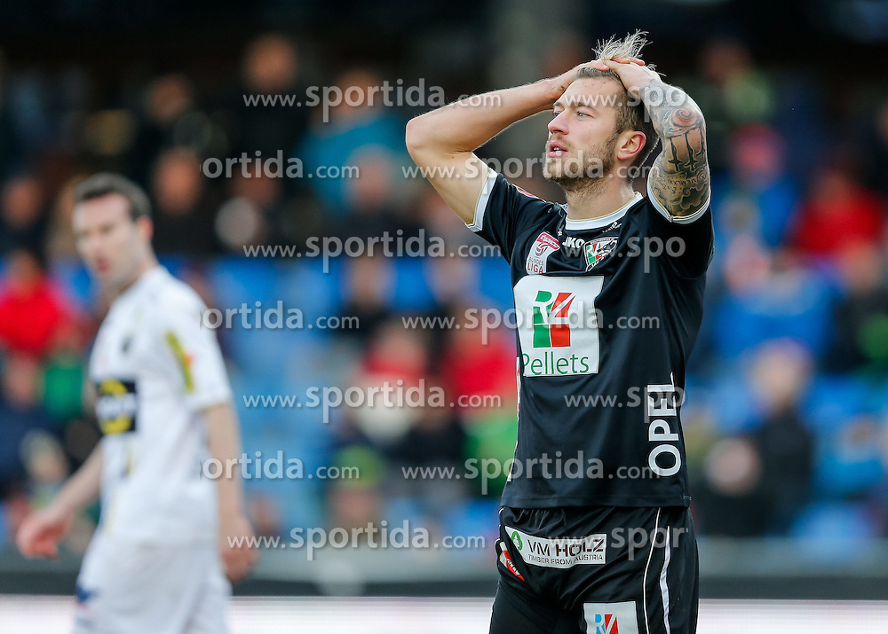 28.02.2015, Cashpoint Arena, Altach, AUT, 1. FBL, SCR Altach vs RZ Pellets WAC, 22. Runde, im Bild Peter Zulj, (RZ Pellets WAC, #10)// during Austrian Football Bundesliga Match, 22th round, between SCR Altach vs RZ Pellets WAC at the Cashpoint Arena, Altach, Austria on 2015/02/28. EXPA Pictures © 2015, PhotoCredit: EXPA/ Peter Rinderer