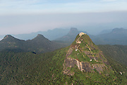 Adam's Peak or Sri Pada, the Holy Mountain of Sri Lanka.