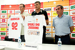 Jaka Daneu, Velimir Perasovic and Roman Volcic during press conference of Adecco Ex-Yu Cup 2012 as part of exhibition games 2012, on August 3rd, 2012, in Arena Stozice, Ljubljana, Slovenia. (Photo by Urban Urbanc / Sportida)