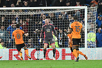 Football - 2017 / 2018 Sky Bet Championship - Cardiff City vs. Wolverhampton Wanderers<br /> <br /> John Ruddy of Wolverhampton Wanderers  celebrates after he saves the penalty taken by Gary Madine  of Cardiff City in the 94th minute, the first of two penalties in the final minutes of the game  of Gary Madine  of Cardiff City, at Cardiff City Stadium.<br /> <br /> COLORSPORT/WINSTON BYNORTH