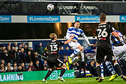 Fulham (13) Tim Ream, Fulham (26) Tomas Kalas during the EFL Sky Bet Championship match between Queens Park Rangers and Fulham at the Loftus Road Stadium, London, England on 29 September 2017. Photo by Sebastian Frej.