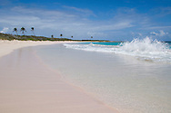 Surf on Junk's Hole Beach, Anguilla, British West Indies, The Caribbean