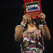 Gabby Douglas, during presentation at the Senior Women Competition at The 2013 P&G Gymnastics Championships, USA Gymnastics' National Championships at the XL, Centre, Hartford, Connecticut, USA. 17th August 2013. Photo Tim Clayton