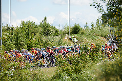 Julie Leth (DEN) in the bunch at Stage 2 of 2019 OVO Women's Tour, a 62.5 km road race starting and finishing in the Kent Cyclopark in Gravesend, United Kingdom on June 11, 2019. Photo by Sean Robinson/velofocus.com
