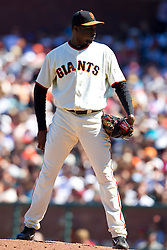 May 30, 2010; San Francisco, CA, USA;  San Francisco Giants relief pitcher Guillermo Mota (59) during the eighth inning against the Arizona Diamondbacks at AT&T Park.  San Francisco defeated Arizona 6-5 in 10 innings.