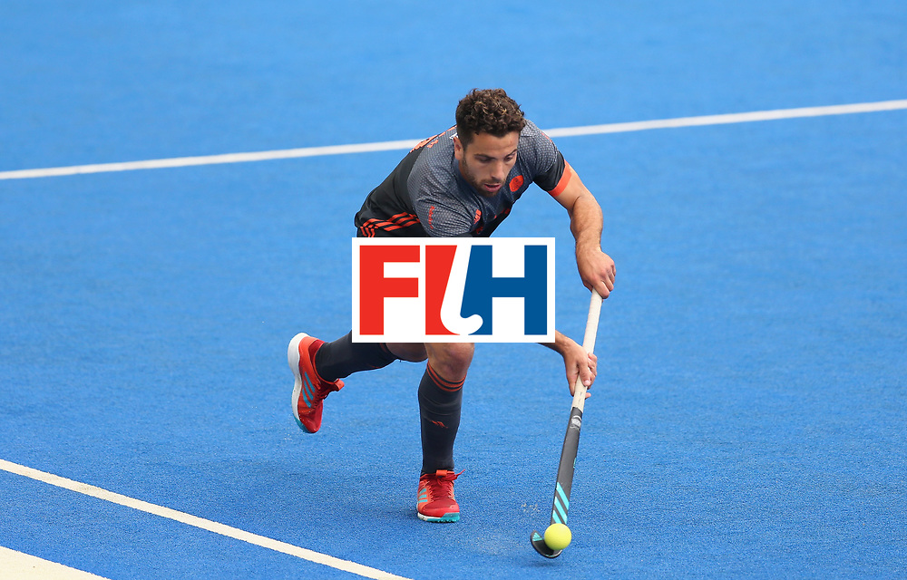 LONDON, ENGLAND - JUNE 24: Valentin Verga of the Netherlands in action  during the semi-final match between England and the Netherlands on day eight of the Hero Hockey World League Semi-Final at Lee Valley Hockey and Tennis Centre on June 24, 2017 in London, England. (Photo by Steve Bardens/Getty Images)