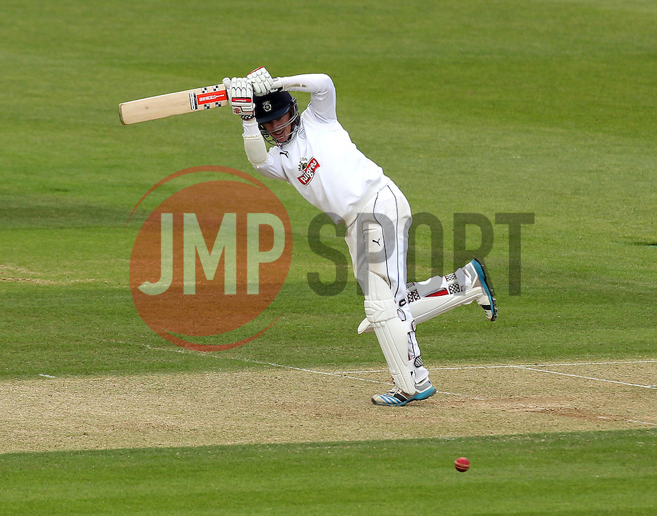 Hampshire's Sean Terry flicks a shot away - Photo mandatory by-line: Robbie Stephenson/JMP - Mobile: 07966 386802 - 22/06/2015 - SPORT - Cricket - Southampton - The Ageas Bowl - Hampshire v Somerset - County Championship Division One