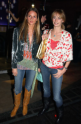 Left to right, AMANDA CROSSLEY and CLEMENTINE HAMBRO at a party to celebrate a new collection of sexy underware by Janet Reger called 'Naughty Janet' held at 5 Cavendish Square, London on 19th October 2004.<br />