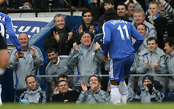 LONDON, ENGLAND - Sunday, January 28, 2007: Chelsea's Didier Drogba celebrates scoring the second goal against Nottingham Forest during the FA Cup 4th Round match at Stamford Bridge. Chelsea won 3-0. (Pic by Chris Ratcliffe/Propaganda)