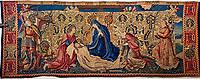 France, Bourgogne-Franche-Comté, Yonne (89), Sens, musée de Sens, Tresor de la Cathedrale, tapisserie Notre-Dame de pitié, 16e // France, Burgundy, Yonne, Sens, museum