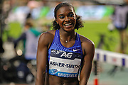 Dina Asher-Smith (Great Britain) winner of the Women's 200 metres, during the IAAF Diamond League event at the King Baudouin Stadium, Brussels, Belgium on 6 September 2019.