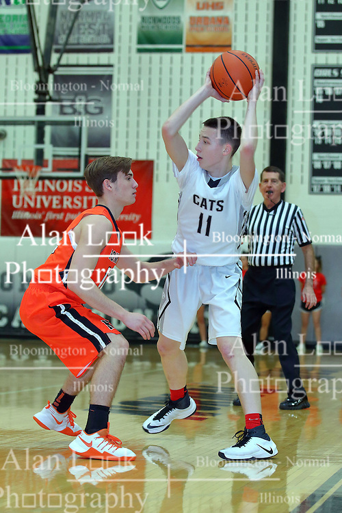 27 January 2017: #12 & #11 IHSA Boys Basketball game between the Normal Community Ironmen and the Normal West Wildcats at Normal Illinois