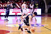 Laquintana Tommaso Gaspardo Raphael<br /> Grissin Bon Reggio Emilia - Germani Brescia<br /> Lega Basket Serie A 2018/2019<br /> Reggio Emilia, 27/01/2019<br /> Foto A.Giberti / Ciamillo - Castoria