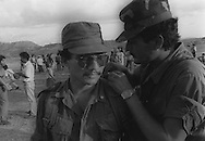 Manuel Melgar (current Minister of Security) is the star of the National Army Commander for Democracy in Gualcho, Usulutan 1991. photo: Ricardo Carrillos/Imagenes Libres).