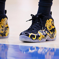 06 April 2014: Close view of Los Angeles Lakers forward Nick Young (0) shoes during the Los Angeles Clippers 120-97 victory over the Los Angeles Lakers at the Staples Center, Los Angeles, California, USA.