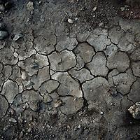 Cracks in the desert ground, Egypt