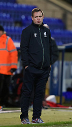 CHESTER, ENGLAND - Friday, October 23, 2015: Liverpool's manager Michael Beale during the Premier League International Cup match against Benfica at the Deva Stadium. (Pic by David Rawcliffe/Propaganda)