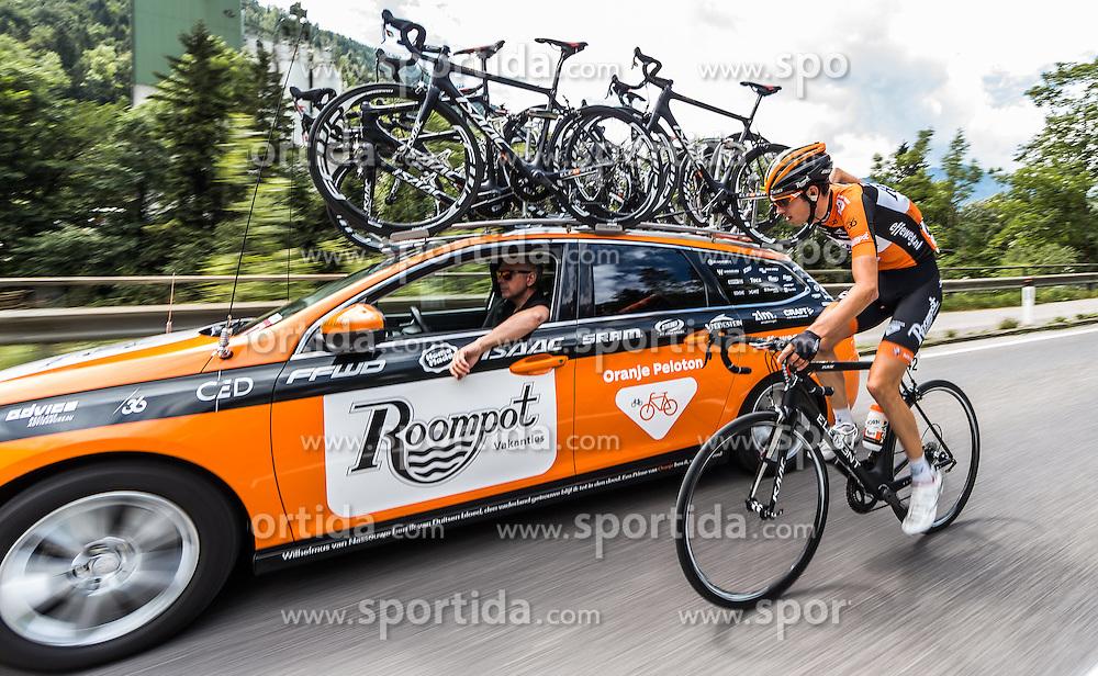 04.07.2016, Steyr, AUT, Ö-Tour, Österreich Radrundfahrt, 2. Etappe, Mondsee nach Steyr, im Bild Ginneken Sjoerd Van (NED, Roompot Oranje Peloton) // Ginneken Sjoerd Van (NED Roompot Oranje Peloton) during the Tour of Austria, 2nd Stage from Mondsee to Steyr, Austria on 2016/07/04. EXPA Pictures © 2016, PhotoCredit: EXPA/ JFK