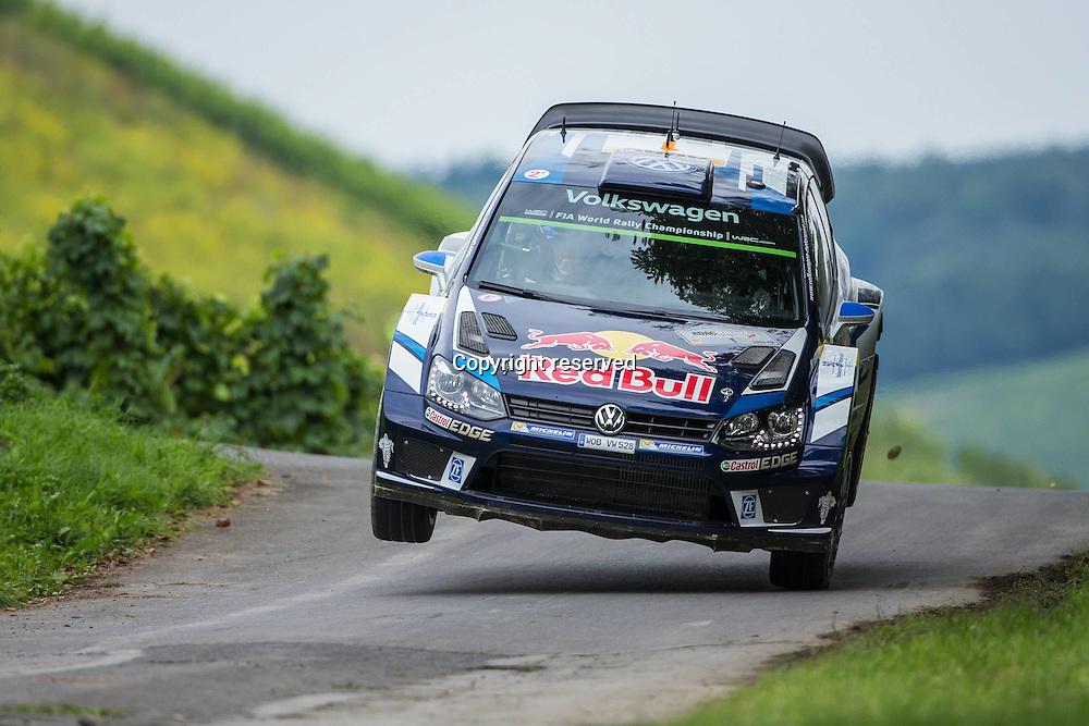 19.08.2016. Mosel, Germany. WRC ADAC rally of Germany, SS3 and SS4.  OGIER Sebastien and INGRASSIA Julien (VOLKSWAGEN MOTORSPORT (DEU) / VOLKSWAGEN POLO