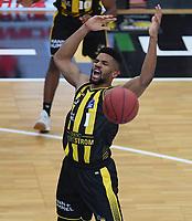 Basketball  1. Bundesliga  2017/2018  Hauptrunde  16. Spieltag  30.12.2017 Walter Tigers Tuebingen - MHP RIESEN Ludwigsburg Dwayne Evans (Ludwigsburg)