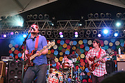 Dr. Dog featuring Toby Leaman (bass), Scott McMicken (lead guitar), Frank McElroy (rhythm guitar), Zach Miller (keyboard), and Eric Slick (drums) performs during the second day of the 2010 Bonnaroo Music & Arts Festival on June 10, 2010 in Manchester, Tennessee. The four-day music festival features a variety of musical acts, arts and comedians..Photo by Bryan Rinnert/3Sight Photography