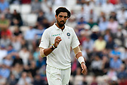 Ishant Sharma of India looks at his fingers after bowling 4 byes during the first day of the 4th SpecSavers International Test Match 2018 match between England and India at the Ageas Bowl, Southampton, United Kingdom on 30 August 2018.