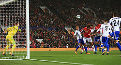 12th September 2017 - UEFA Champions League - Group A - Manchester United v FC Basel - Romelu Lukaku of Man Utd scores their 2nd goal - Photo: Simon Stacpoole / Offside.
