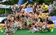 Den Bosch vs SCHC at SCHC, Bilthoven, Utrecht, Netherlands,16th May 2016.<br />Den Bosch celebrate winning the EHCCC2016.