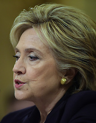 Democratic presidential candidate and former Secretary of State Hillary Clinton testifies before the House Select Committee on Benghazi on Capitol Hill in Washington D.C, the United States, Oct. 22, 2015. EXPA Pictures &copy; 2015, PhotoCredit: EXPA/ Photoshot/ Yin Bogu<br /> <br /> *****ATTENTION - for AUT, SLO, CRO, SRB, BIH, MAZ only*****
