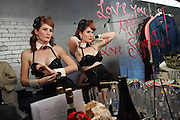 The Gamble Sisters backstage at a Burlesque performance at The Oxford Arts Factory in Sydney, 2007.