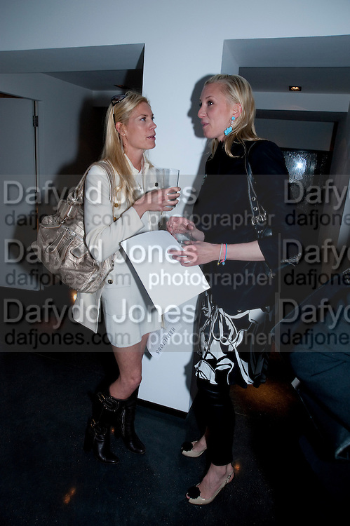 AMARYLLIS FRASER; NATASHA BULSTRODE, HELMUT NEWTON EXHIBITION, Hamiltons,  London. 12 May 2009