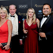 Inge Neaves, Michael Gelard, Ellora Harper and Kevin Rochay Chairman of Rochay High Society Soiree with Jovoy at Westbury Mayfair grafton suite on 21 November 2019, London, UK.