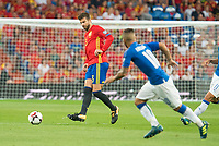 Spain's Gerard Pique during match between Spain and Italy to clasification to World Cup 2018 at Santiago Bernabeu Stadium in Madrid, Spain September 02, 2017. (ALTERPHOTOS/Borja B.Hojas)