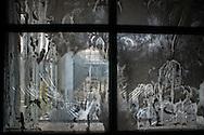 Roma, 31/12/2015: la sezione maschile del CIE di Ponte Galeria mostra i segni dell'ultima rivolta - signs the uprising in the men's section of the Center Identification and Expulsion of Ponte Galeria