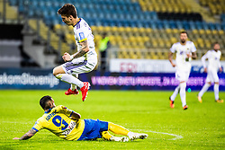 Luka Zahovic of NK Maribor and Mitja Lotric of NK Celje during Football match between NK Celje and NK Maribor in 33th Round of Prva liga Telekom Slovenije 2018/19, on May 15th, 2019, in Stadium Celje, Slovenia. Photo by Grega Valancic / Sportida