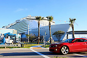 The cruise ship Oasis of the Seas at port in Fort Lauderdale. The ship, currently the largest in the world, is owned by Royal Carribean Cruise Line.