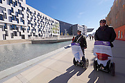 Vienna, Austria. Opening Day of the new WU Campus (University of Economics).<br /> Segways in front of D4 (Departments 4) by Estudio Carme Pinos, Barcelona.