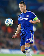 John Terry of Chelsea during the UEFA Champions League match at Stamford Bridge, London<br /> Picture by Alan Stanford/Focus Images Ltd +44 7915 056117<br /> 04/11/2015
