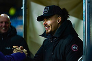 Leeds United midfielder Kalvin Phillips (23), who is suspended for the game, arrives at the ground during the EFL Sky Bet Championship match between Leeds United and Millwall at Elland Road, Leeds, England on 28 January 2020.