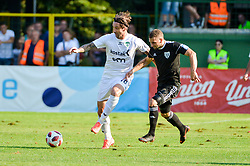 Ivan Bozic of NK Krsko vs Nino Kouter of NS Mura during football match between NS Mura and NK Krsko in 5th Round of Prva liga Telekom Slovenije 2018/19, on August 19, 2018 in Mestni stadion Fazanerija, Murska Sobota, Slovenia. Photo by Mario Horvat / Sportida