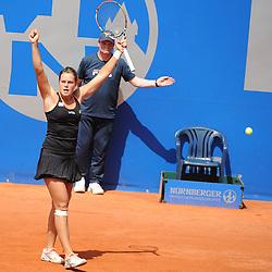 22.05.2014, Tennisanlage 1.FC Nuernberg, GER, WTA Tour, Nuernberger Versicherungscup, Viertelvinale, im Bild Siegerin nach 3 Saetzen Karin Knapp (ITA) // during the quarterfinals of Nuernberg WTA tournament at the 1.FC Nuernberg tennis facility in Nuernberg, Germany on 2014/05/22. EXPA Pictures © 2014, PhotoCredit: EXPA/ Eibner-Pressefoto/ Schreyer<br /> <br /> *****ATTENTION - OUT of GER*****