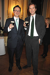Left to right, VISCOUNT DUNLUCE and GAWAIN RAINEY at a party to celebrate the publication of 'Arthur's Road' a biography of Arthur Guinness written by Patrick Guinness held at the Irish Embassy, London on 6th March 2008.<br /><br />NON EXCLUSIVE - WORLD RIGHTS