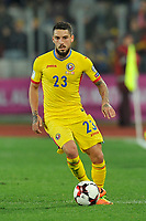 CLUJ-NAPOCA, ROMANIA, MARCH 26: Romania's national soccer player Nicolae Stanciu controls the ball during the 2018 FIFA World Cup qualifier soccer game between Romania and Denmark, on March 26, at Cluj Arena Stadium, in Cluj-Napoca, Romania. (Photo by Mircea Rosca/Getty Images)full lenght,, full lenght,