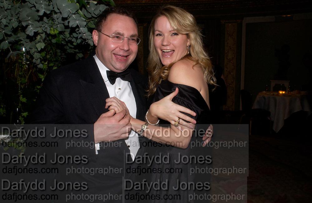 Jonathan Shalit and Georgina Blakeley, 24th London Film Critics Circle Awards in aid of the NSPCC , ( AlFS) the Dorchester, 11 February 2004. © Copyright Photograph by Dafydd Jones 66 Stockwell Park Rd. London SW9 0DA Tel 020 7733 0108 www.dafjones.com