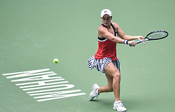 WUHAN, Sept. 27, 2018  Ashleigh Barty of Australia competes during singles quarterfinal match against Anastasia Pavlyuchenkova of Russia at the 2018 WTA Wuhan Open tennis tournament in Wuhan, central China's Hubei Province, on Sept. 27, 2018. Ashleigh Barty won 2-1. (Credit Image: © Xue Yubin/Xinhua via ZUMA Wire)