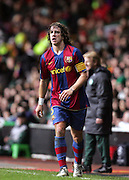 Carlos Puyol of Barca. Celtic v Barcelona, Uefa Champions League, Knockout phase, Celtic Park, Glasgow, Scotland. 20th February 2008.