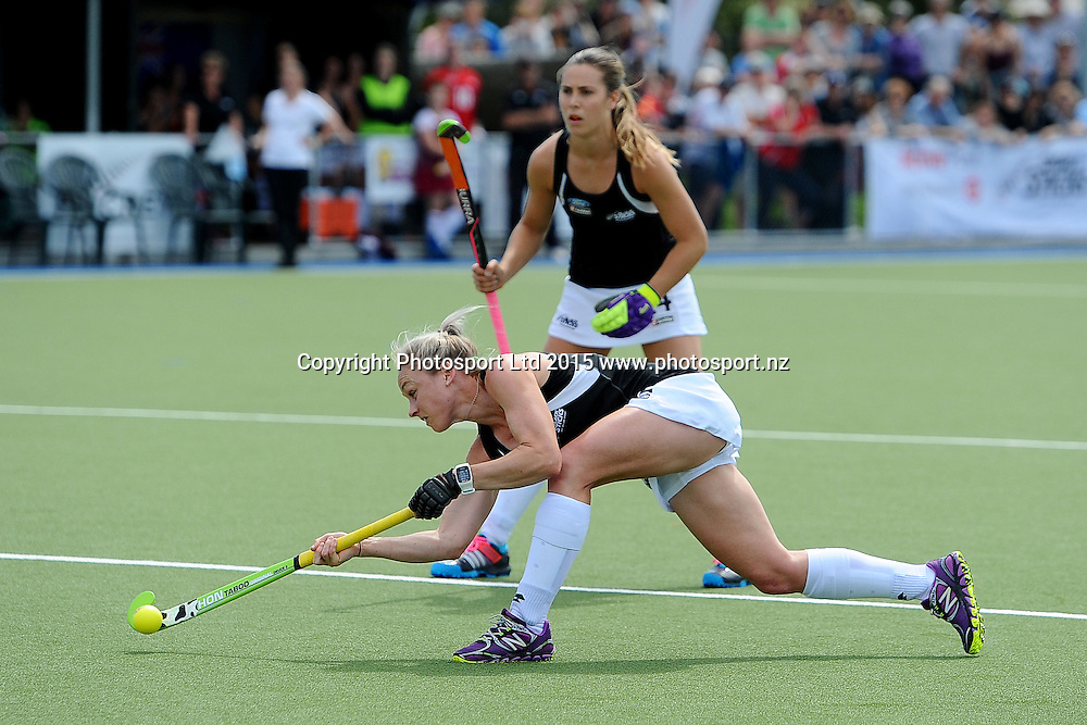 Black Sticks player Antia Punt during their 2015 South Island Tour game between the New Zealand Black Sticks Women v Argentina. College Park, Blenheim, New Zealand. Sunday 4 October 2015. Copyright Photo: Chris Symes / www.photosport.nz